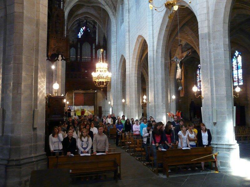 Retour sur les JMJ : messe d'envoi des JMJistes du diocèse de Saint-Flour... p1000118